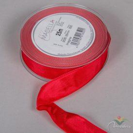 Textil szalag hagyományos drótos piros 25mmx25m
