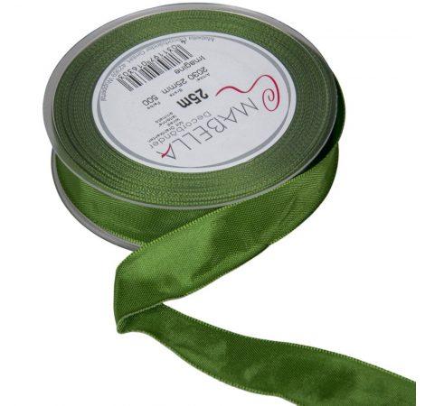 Textil szalag hagyományos drótos sötét zöld 25mmx25m
