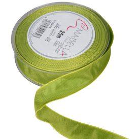 Textil szalag hagyományos drótos világos zöld 25mmx25m