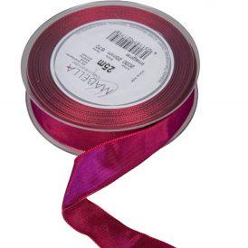 Textil szalag hagyományos bordó drótos 25mmx25m