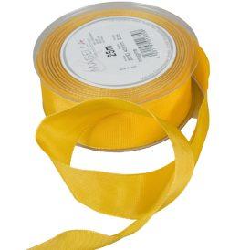 Textil szalag hagyományos drótos sárga 40mmx25m