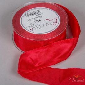 Textil szalag hagyományos drótos piros 40mmx25m