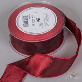 Textil szalag hagyományos drótos bordó 40mmx25m