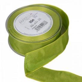 Textil szalag hagyományos drótos világos zöld 40mmx25m