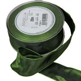 Textil szalag hagyományos drótos olaj zöld 40mmx25m