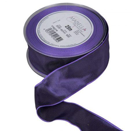 Textil szalag hagyományos drótos lila 40mmx25m