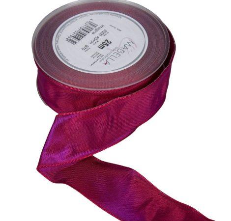 Textil szalag hagyományos drótos padlizsán 40mmx25m