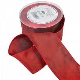 Textil szalag hagyományos drótos bordó 60mmx25m