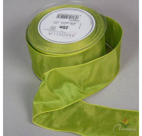 Textil szalag hagyományos drótos világos zöld 60mmx25m