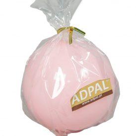 Lakkozott gömb gyertya 80mm rózsaszín