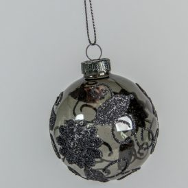 Csipke mintás üveg gömb 60mm 3db-os