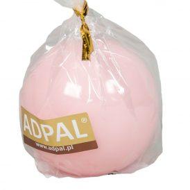 Lakkozott gömb gyertya 56mm rózsaszín