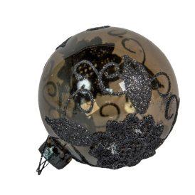 Csipke mintás üveg gömb 70mm 2db-os