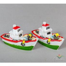 Halász hajó poly. 7cm 2db-os