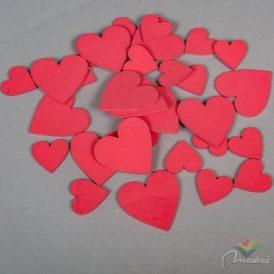 Fa szív piros 3-5cm 32db-os