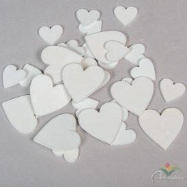 Fa szív fehér 3-5cm 32db-os