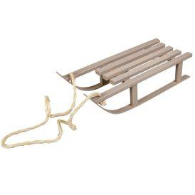 Fa szánkó szürke kötélel 38cm
