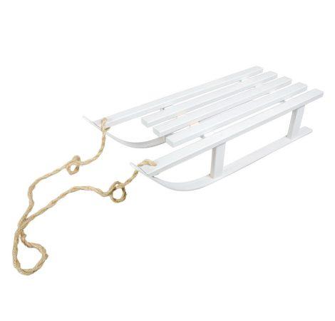 Fa szánkó fehér kötélel 51cm