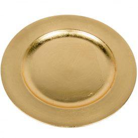 Műanyag tál kerek arany D28cm