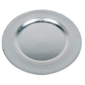 Műanyag tál kerek ezüst D28cm