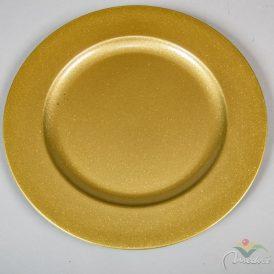 Műanyag tál kerek arany glitteres D28cm