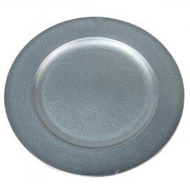 Műanyag tál kerek ezüst glitteres D28cm