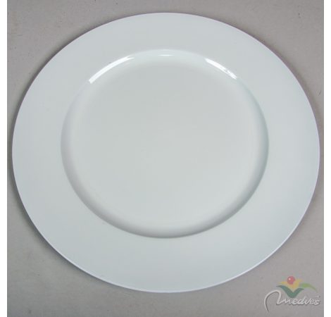 Műanyag tál kerek fehér D33cm
