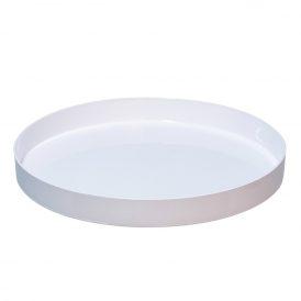 Műanyag peremes tál kerek fehér D27x3cm