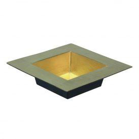 Műanyag peremes négyszögletes tál arany 20x20cm