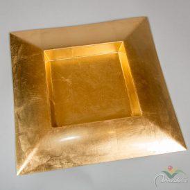 Szögletes műanyag tál arany 40x40cm