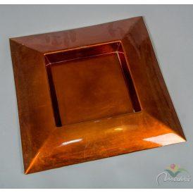 Szögletes műanyag tál bronz 40x40cm