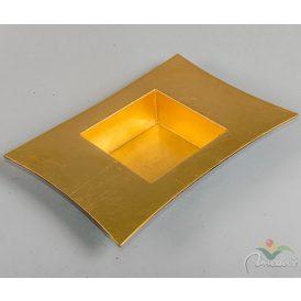 Peremes műanyag tál arany 30x22x5cm