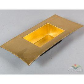 Peremes műanyag tál arany 30x15x5cm