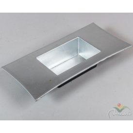 Peremes műanyag tál ezüst 30x15x5cm