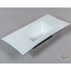 Peremes műanyag tál fehér 30x15x5cm