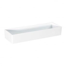 Műanyag tál tégla alakú fehér 32x10x5cm