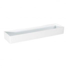 Műanyag tál tégla alakú fehér 42x10x5cm