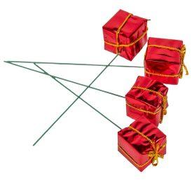Ajándékdoboz pick 2,5cm piros 60db-os