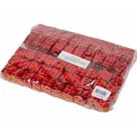 Ajándékdoboz pick 2,5+10cm piros 60db-os