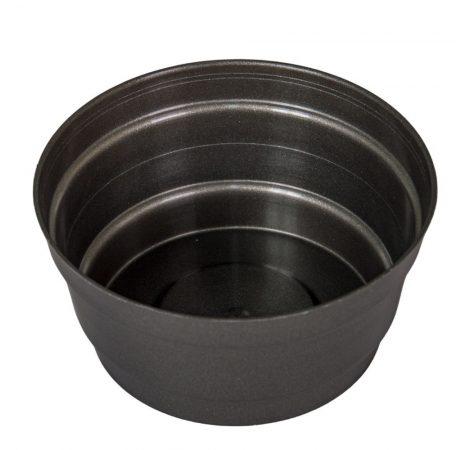 Műanyag közepes tál kerek szürke D13,5cm M7cm