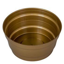 Műanyag közepes tál  kerek arany D13,5cm M7cm