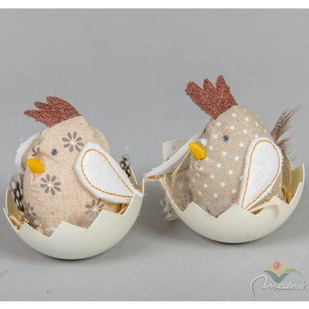 Textil csirke tojáshéjjal M9cm