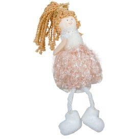 Lány lógólábú rózsaszín-fehér M12cm