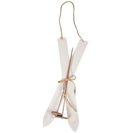 Fa síléc botokkal akasztós fehér 38cm