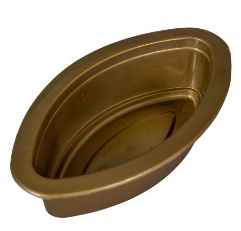 Műanyag közepes hajó arany M6,5 x 25cm