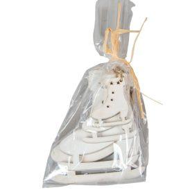 Fa akasztós korcsolya 5-7-10-12cm fehér 4db-os