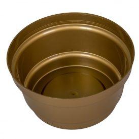 Műanyag nagy tál arany D16cm M8cm