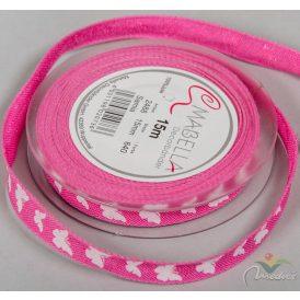 Textil szalag SAMIA pink 15mm x 15m