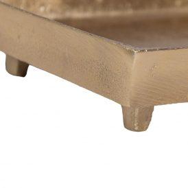 Nikkel tál lábbal arany 30x15cm