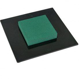 Négyzetes ikebana vizes tűzőhabbal fekete M6x19x19cm (db ár)